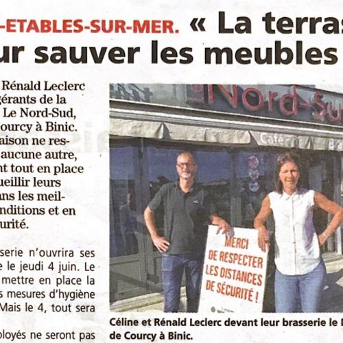 La Brasserie Nord Sud accueille ses clients dés le 4 Juin 2020